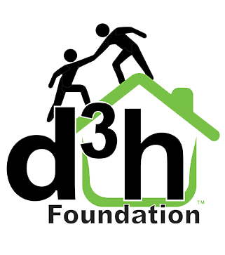 The d3h Foundation logo represents the charitable organization set up by the d3h hotels corporation.